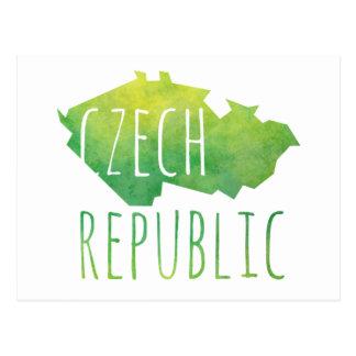 Cartão Postal Mapa da república checa