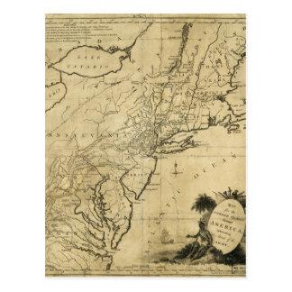 Cartão Postal Mapa da Revolução Americana por Thomas Conder (c