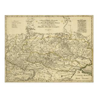 Cartão Postal Mapa da Ucrânia por Guilherme Sanson (1674)
