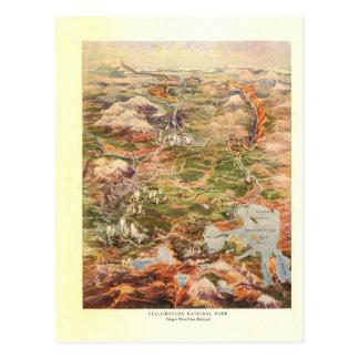 Cartão Postal Mapa da vista 1910 aérea - parque nacional de