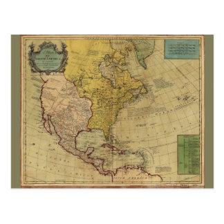 Cartão Postal Mapa de America do Norte (1765)