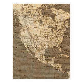 Cartão Postal Mapa de America do Norte por Arrowsmith