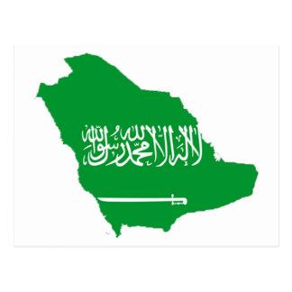 Cartão Postal mapa de Arábia Saudita