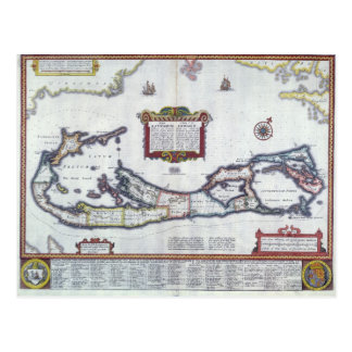 Cartão Postal Mapa de Bermuda