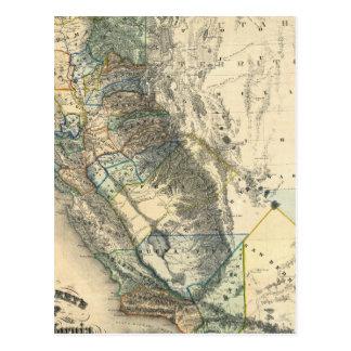 Cartão Postal Mapa de Britton e de Rey de Califórnia