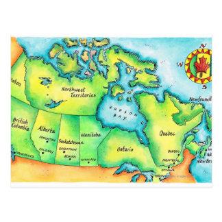 Cartão Postal Mapa de Canadá 2