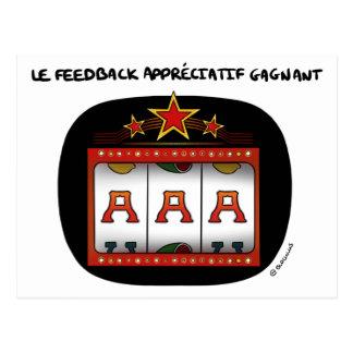 Cartão Postal Mapa de coaching: A-A-A, o feedback apreciativo