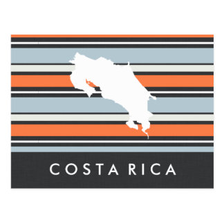 Cartão Postal Mapa de Costa Rica: Listras modernas