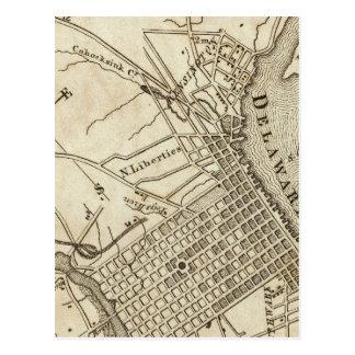 Cartão Postal Mapa de estradas de Philadelphfia