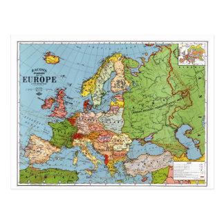 Cartão Postal Mapa de Europa