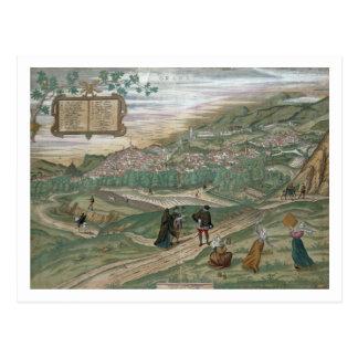"""Cartão Postal Mapa de Granada, de """"Civitates Orbis Terrarum"""", V"""