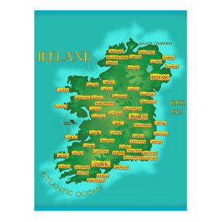 Cartão Postal Mapa de Ireland
