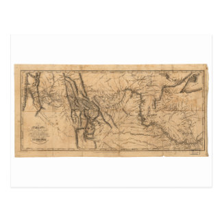 Cartão Postal Mapa de Lewis & de Clark através de América