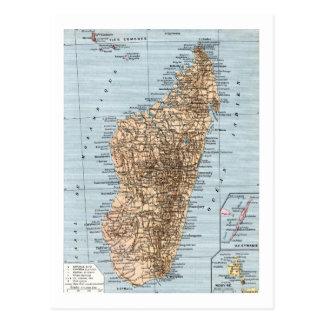 Cartão Postal Mapa de Madagascar