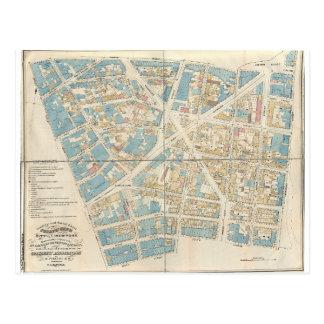 Cartão Postal Mapa de Manhattan