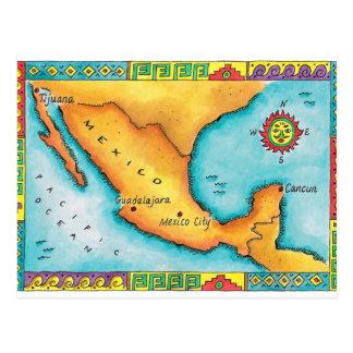 Cartão Postal Mapa de México