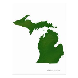 Cartão Postal Mapa de Michigan