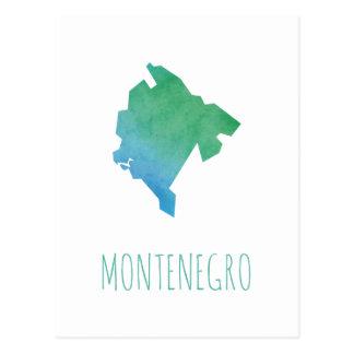Cartão Postal Mapa de Montenegro