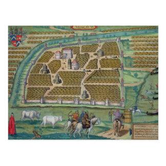 Cartão Postal Mapa de Moscovo