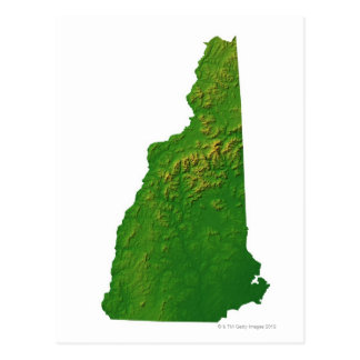 Cartão Postal Mapa de New Hampshire
