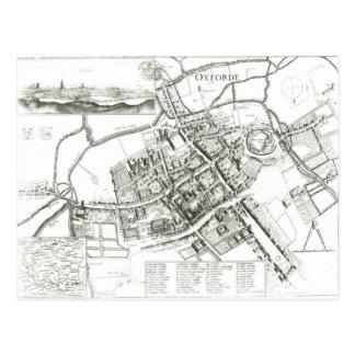 Cartão Postal Mapa de Oxford, 1643