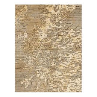Cartão Postal Mapa de Scotland por Arrowsmith