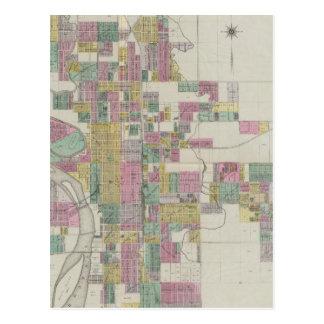 Cartão Postal Mapa de Wichita, Kansas