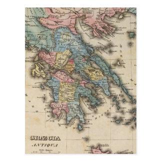 Cartão Postal Mapa do atlas de cor completa da piscina
