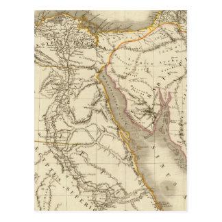 Cartão Postal Mapa do atlas de Médio Oriente