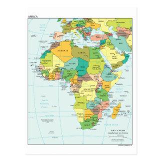 Cartão Postal Mapa do continente de África