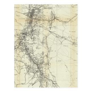 Cartão Postal Mapa do esboço do distrito de Washoe