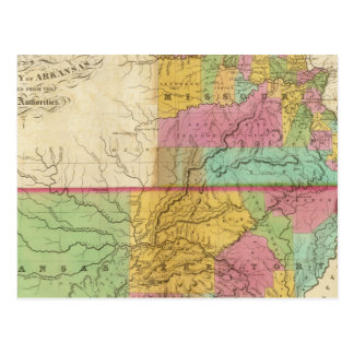 Cartão Postal Mapa do estado de Missouri