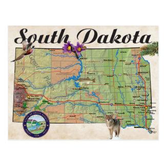 Cartão Postal Mapa do estado do SD