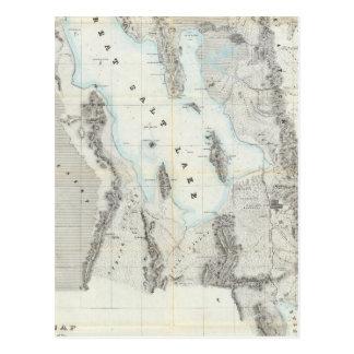 Cartão Postal Mapa do Great Salt Lake