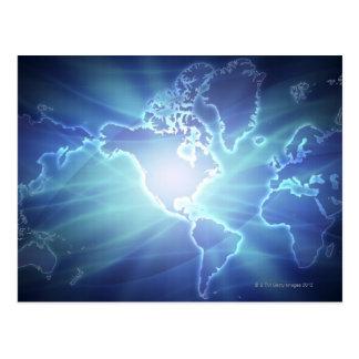 Cartão Postal Mapa do mundo 6