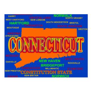 Cartão Postal Mapa do orgulho do estado das cidades e das