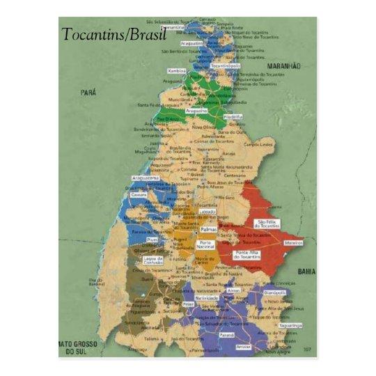 Cartão Postal Mapa do Tocantins
