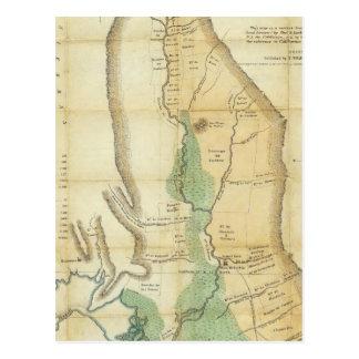 Cartão Postal Mapa do vale do Sacramento