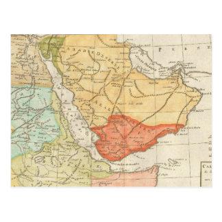 Cartão Postal Mapa do vintage de Arábia Saudita (1780)