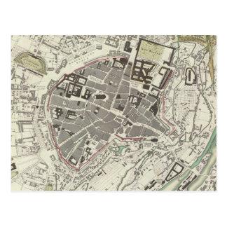 Cartão Postal Mapa do vintage de Munich Alemanha (1832)