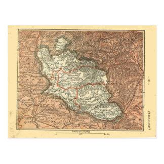 Cartão Postal Mapa do vintage de Vaucluse, France