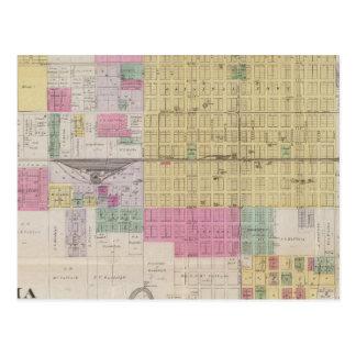 Cartão Postal Mapa dos Emporia, Kansas