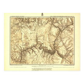 Cartão Postal Mapa histórico do Grand Canyon - arquivos