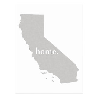 Cartão Postal Mapa home do estado da silhueta de Califórnia