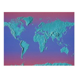 Cartão Postal Mapa maciço da terra