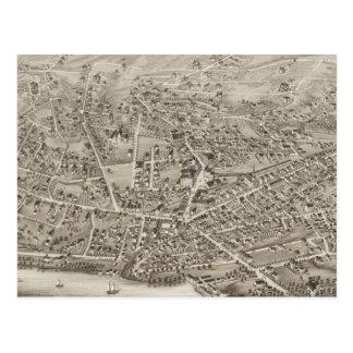 Cartão Postal Mapa pictórico do vintage das MÃES de Newton