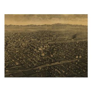 Cartão Postal Mapa pictórico do vintage dos faturamentos Montana
