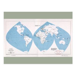 Cartão Postal Mapa político do mundo (1983)