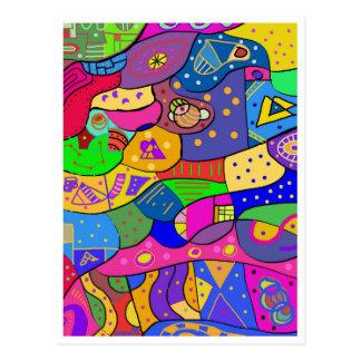 "Cartão Postal Mapa postal ""Child Playground """