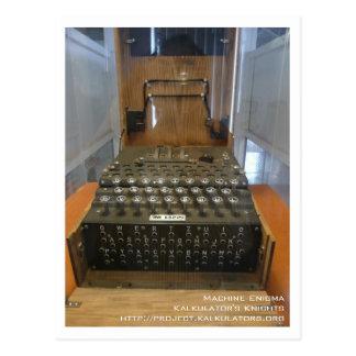 Cartão Postal Mapa postal Enigma